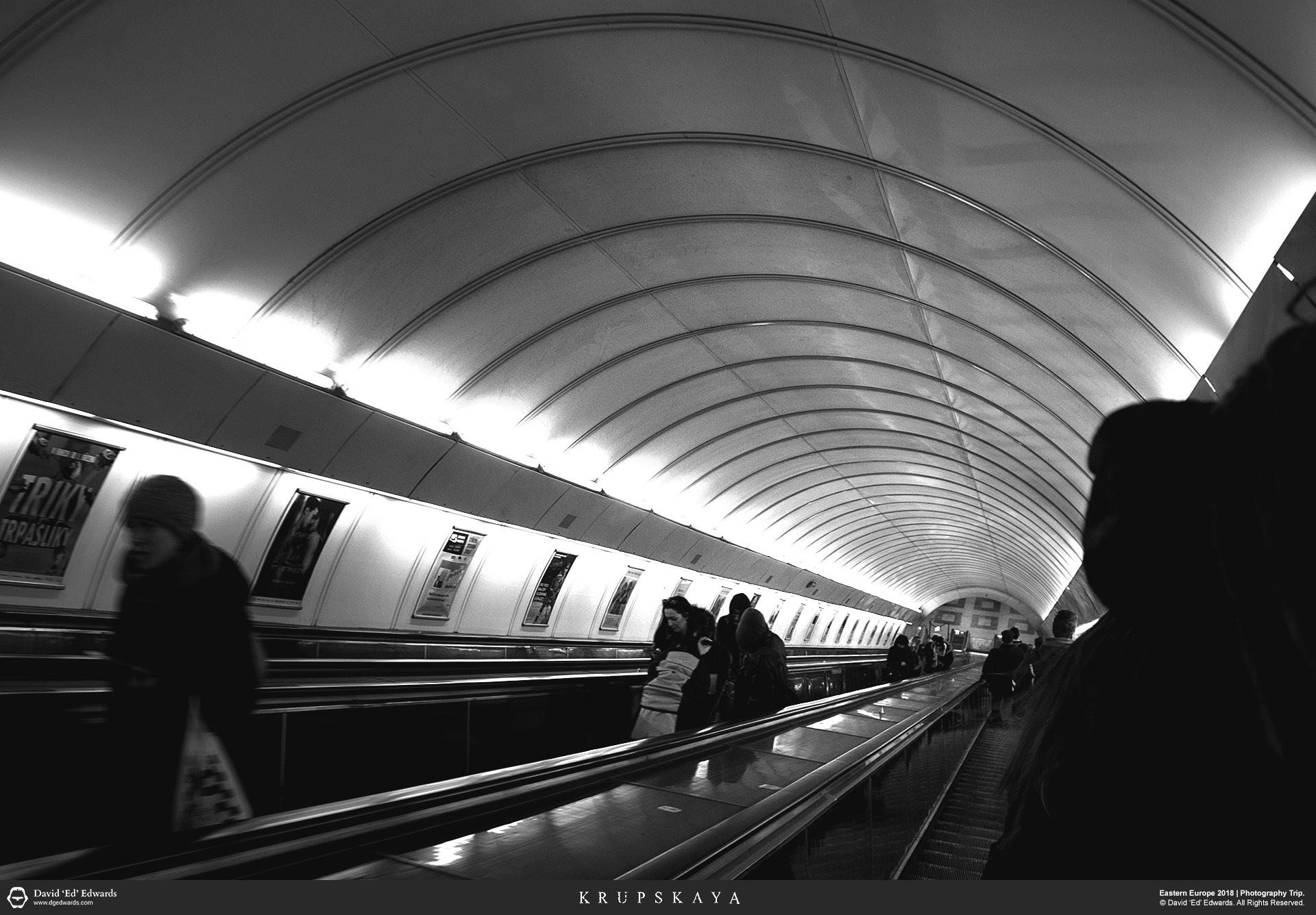 Escalators down to the subway