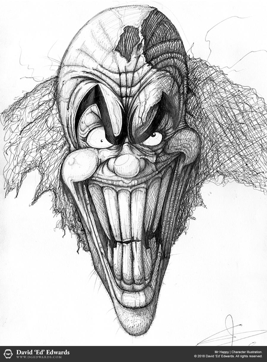 Mr Happy character illustration
