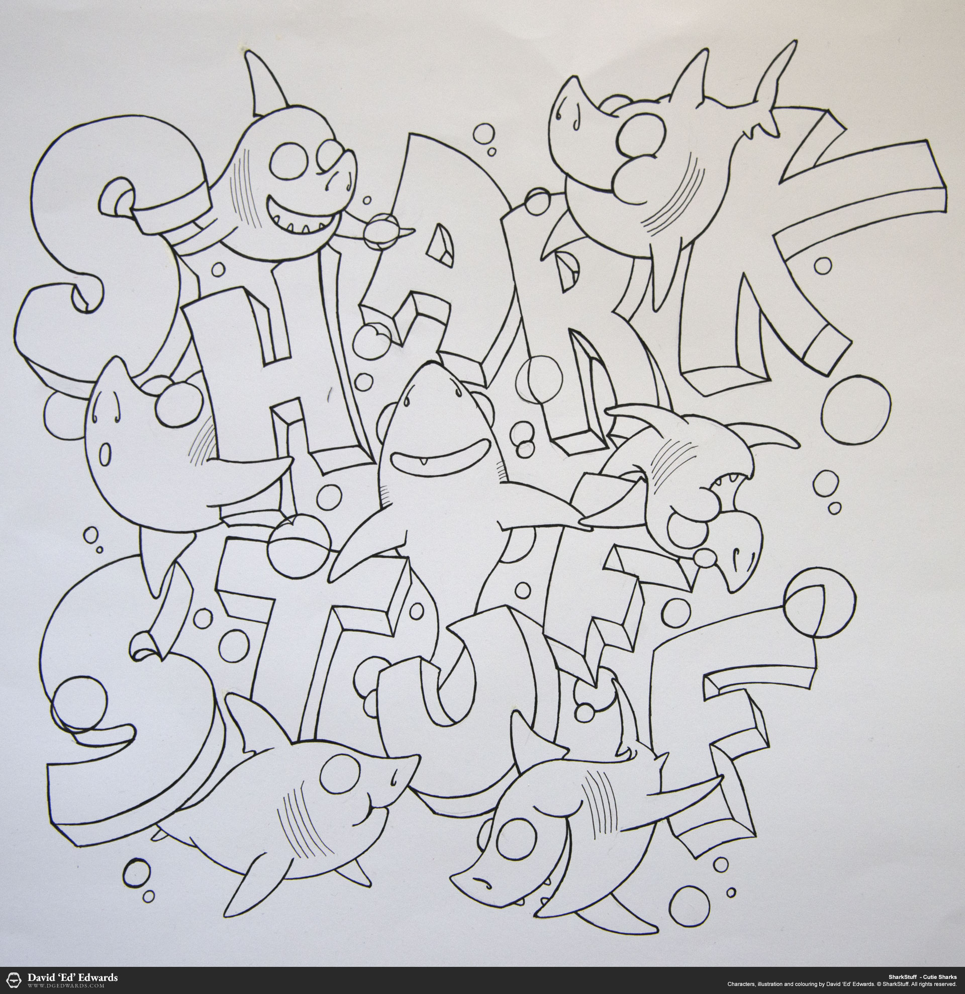 Shark Cartoon Outline