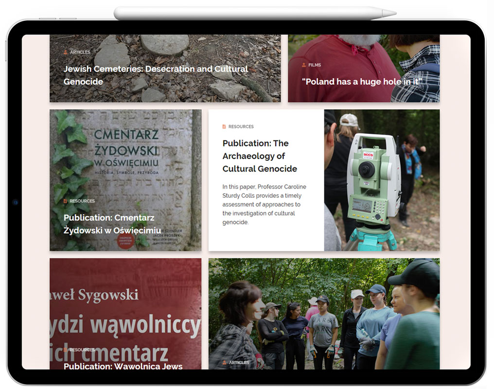 Recording Cultural Genocide website tablet preview