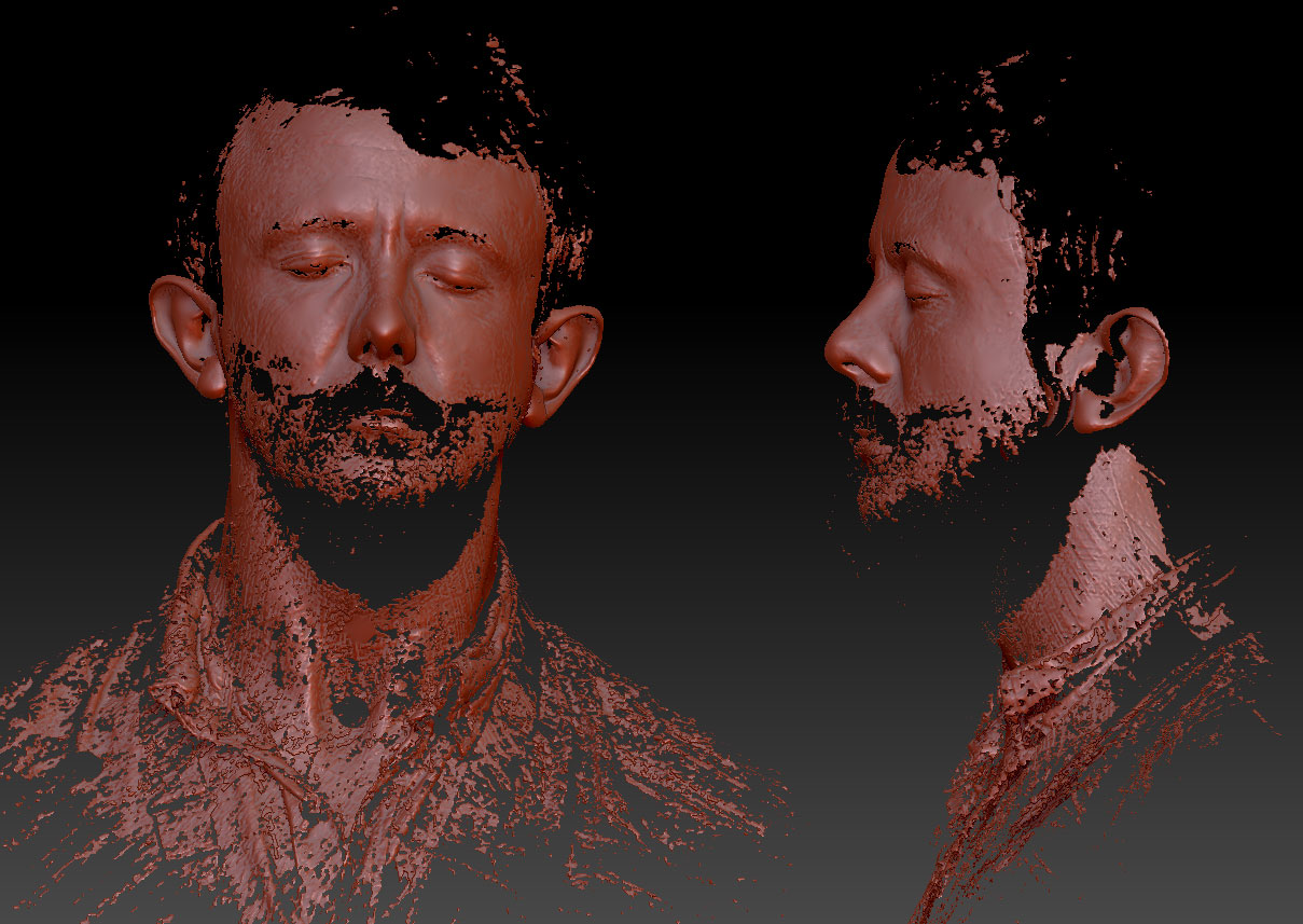 Laser scanned face Zbrush