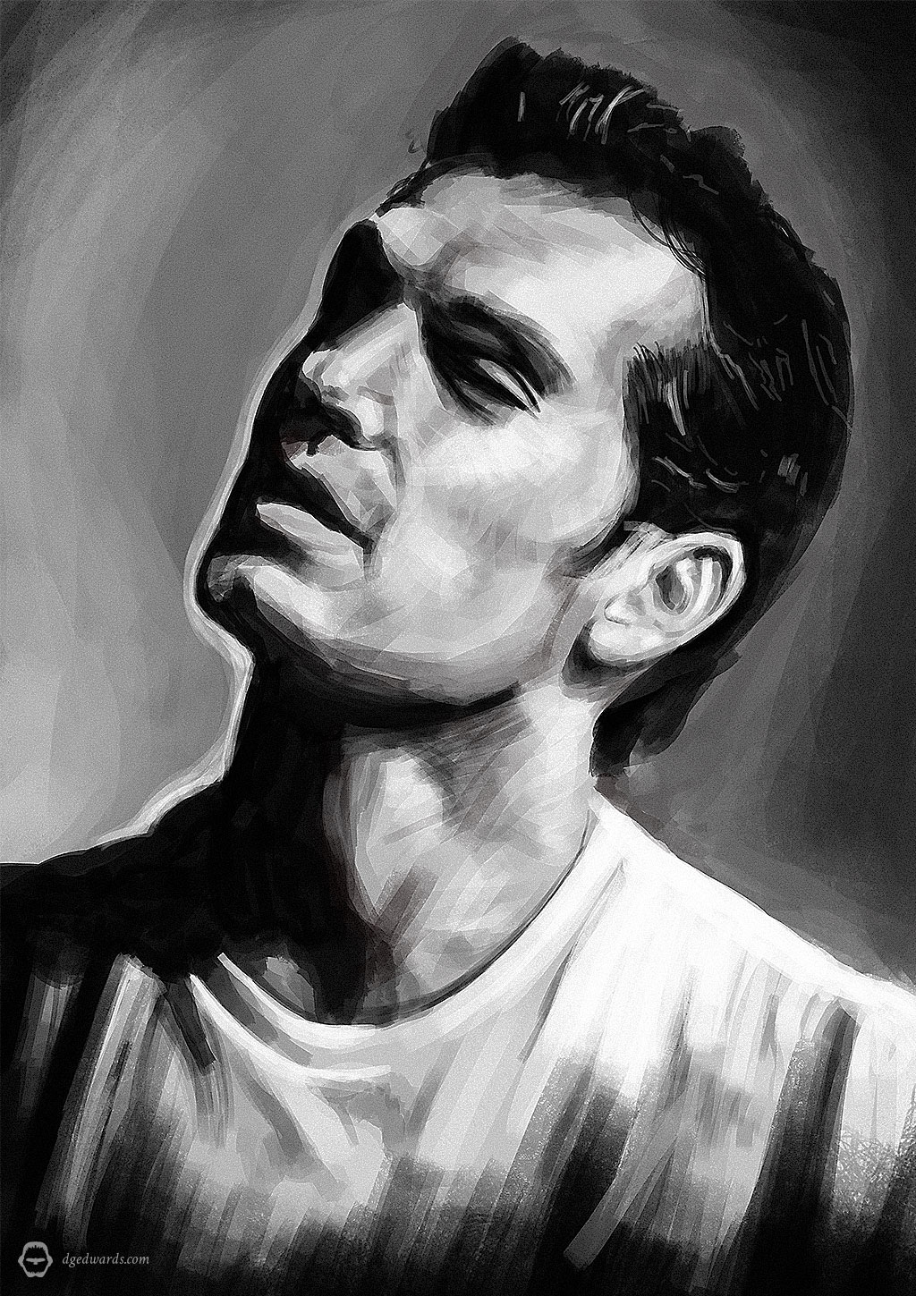 Henry Cavill, digital portrait illustration