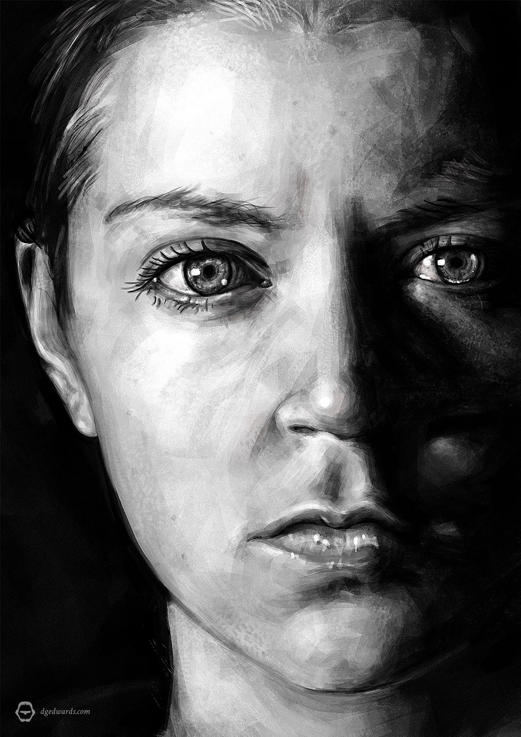 Melina Juergens, Portrait Illustration