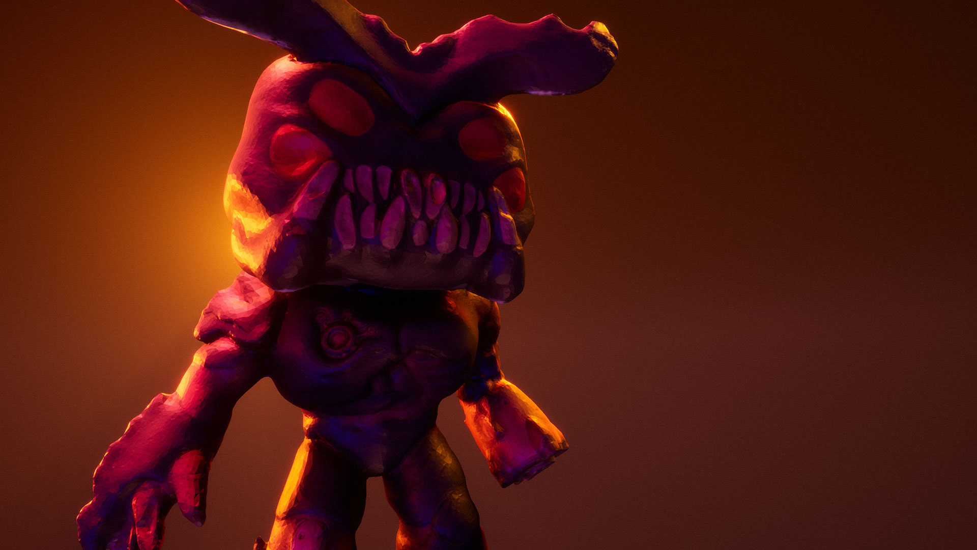The Cyberdemon Pop! toy, reconstructed with Reality Capture and rendered in Unreal Engine 4