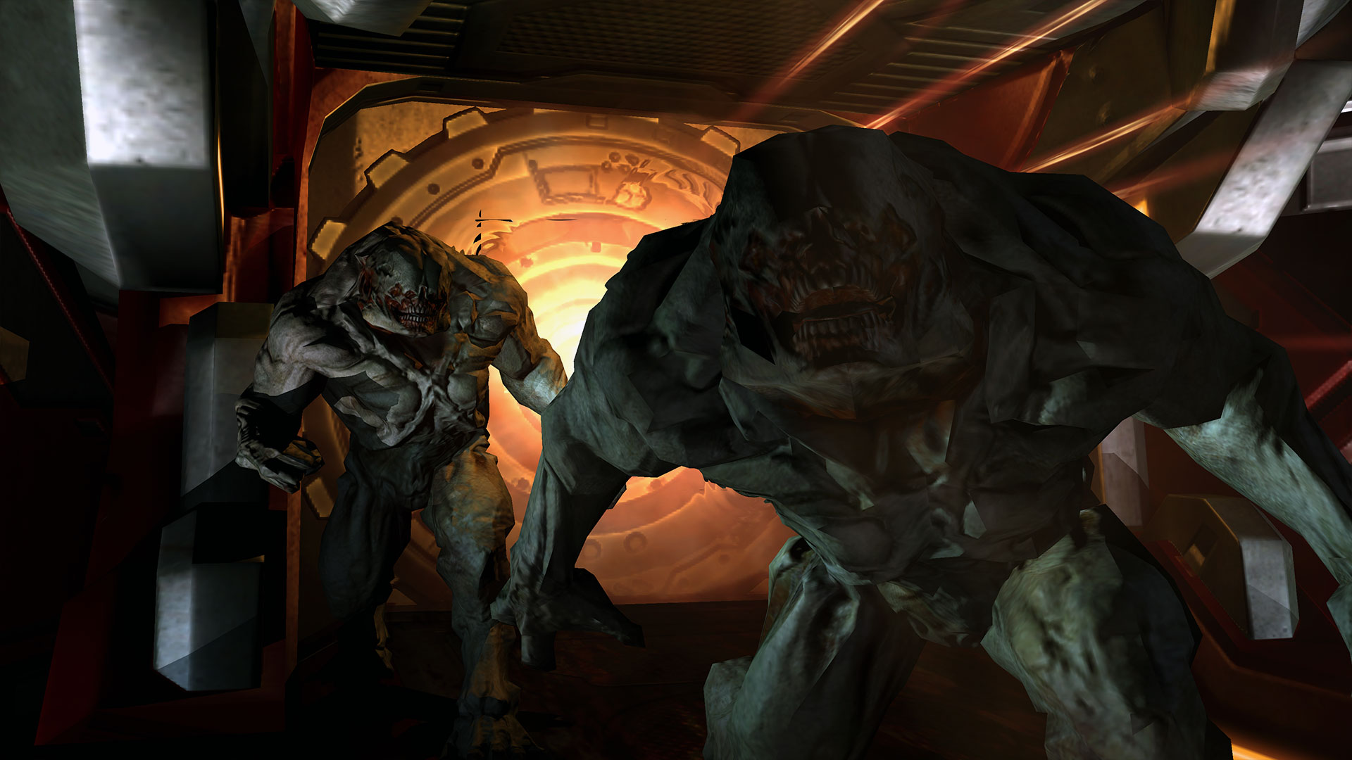 Two Hell Knights in Doom 3