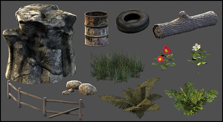Unreal Engine scene props