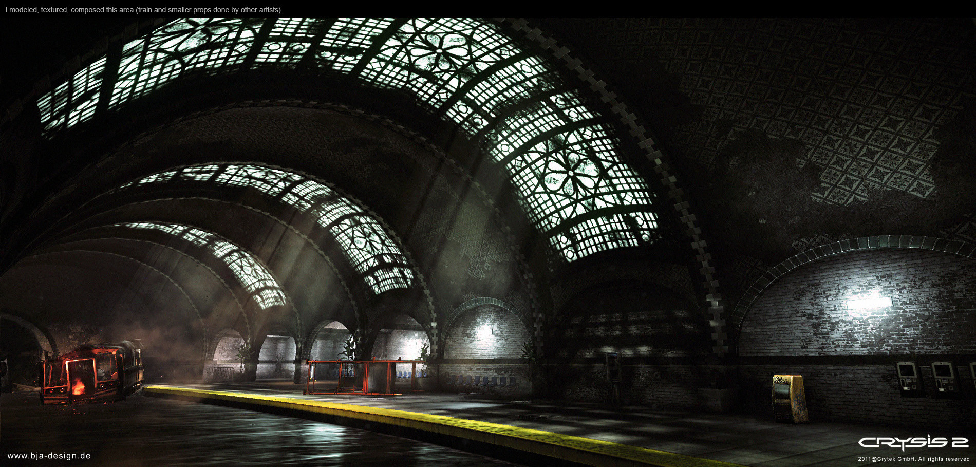 Environment work from Crysis 2. Robert was responsible for modeling, texturing and composition.