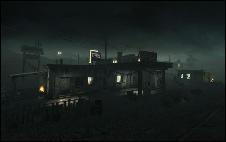 A Quake 4 environmental scene
