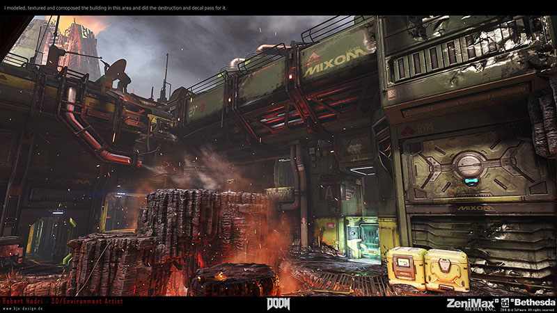 Robert Hodri environment art for Doom 2016