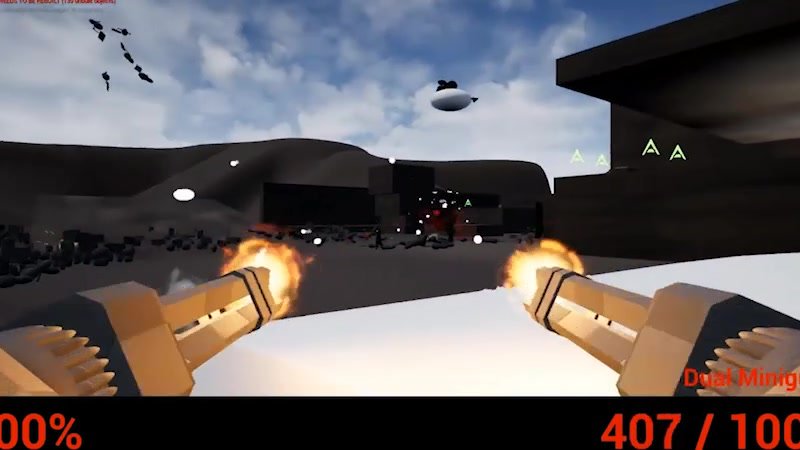 Gameplay prototype. We collaborated on the movement design, I created the weapons and enemy types.