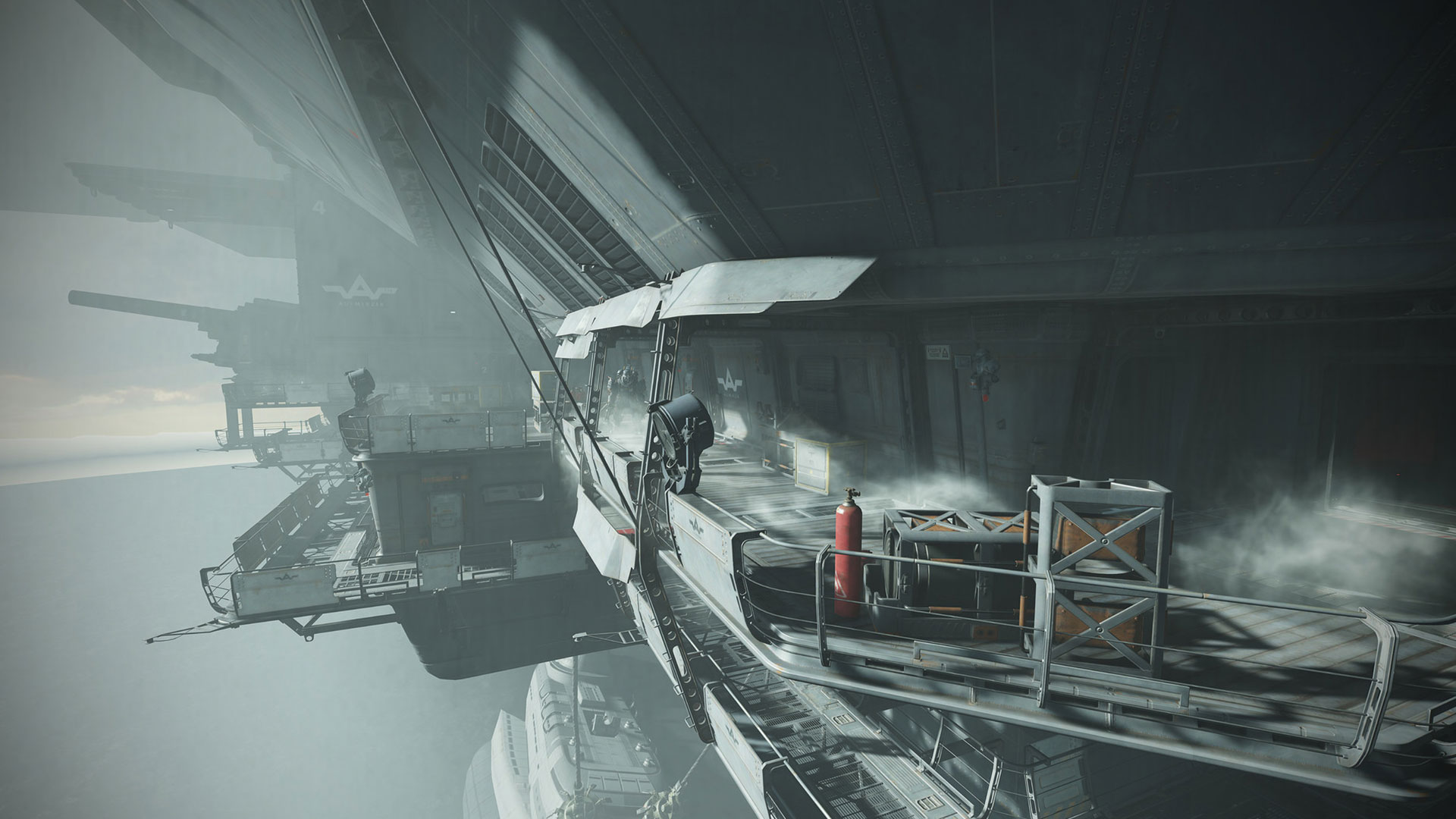One of the many environments Myles worked on for Wolfenstein II: The New Colossus by Machine Games.