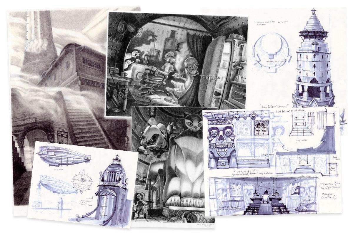 Peter Chan Grim Fandango Concept Art